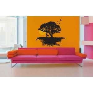 Tree, Birds and Roots Vinyl Wall Decal Sticker Graphic