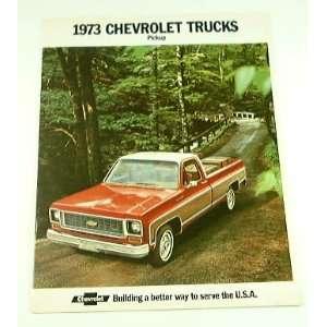 1973 73 Chevrolet CHEVY PICKUP TRUCK BROCHURE C10 K20