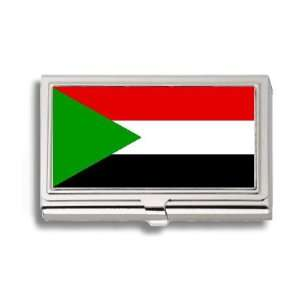 Sudan Sudanese Flag Business Card Holder Metal Case