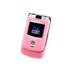Motorola RAZR V3 & V3c Pink Silicone Case Cell Phones & Accessories
