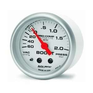Auto Meter 4303 M 2IN VACUUM/BOOST GAUGE   Automotive