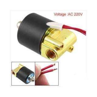 Way 1/4 Gas Water Pneumatic Electric Solenoid Valve Home Improvement