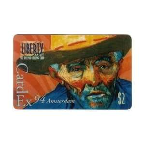 Collectible Phone Card $2. Vincent Van Gogh II   CardEx 94 Amsterdam