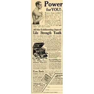 White Cross Electric Vibrator   Original Print Ad