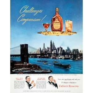 1950 Ad Calvert Reserve Blended Whiskey Distillers New