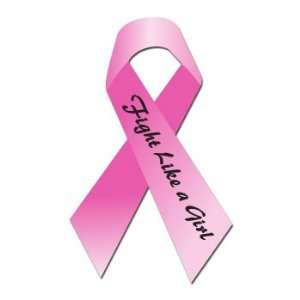 BREAST CANCER FIGHT LIKE A GIRL RIBBON   Sticker Decal