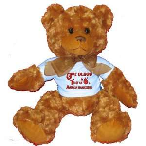 Give Blood Tease A American Staffordshire Plush Teddy Bear with BLUE T