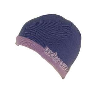 UNDER ARMOUR Womens Prep Beanie Purple Cap Hat Sports