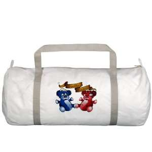 Gym Bag Double Trouble Bears Angel and Devil