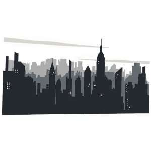 Platin Art Wall Decal Deco Sticker, New York Skyline