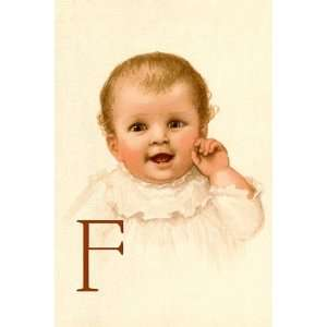 Baby Face F   Poster by Dorothy Waugh (12x18):  Home