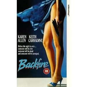 Backfire [VHS] Karen Allen, Keith Carradine, Jeff Fahey