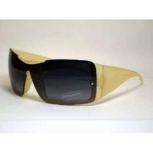 K6419ts Teddy Bear Children Sunglasses Yellow Frame Smoke