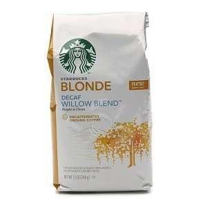 Starbucks Coffee Blonde Roast, Willow Blend Decaf, Ground, 12 Oz (3