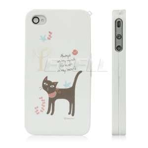 Ecell   BLACK CAT FRONT & BACK CASE COVER FOR APPLE iPHONE
