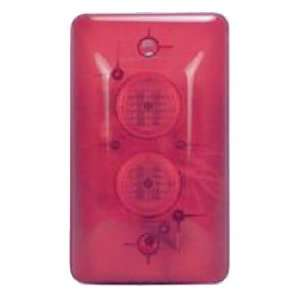 Siren With Flasher 12VDC 250ma Clear Red Plastic Case 23/4 X 51/2 X 11