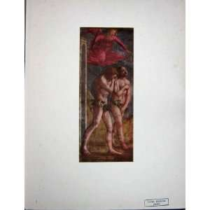 : C1950 Colour Print Adam Eve Driven Out Of Paradise: Home & Kitchen