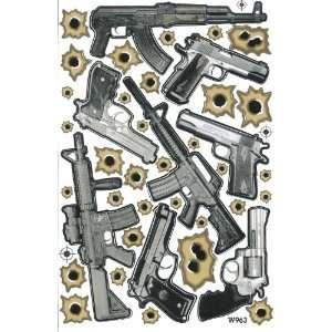 Rapid Fire Bullet Holes Gun Vinyl Decal Sticker Sheet A07