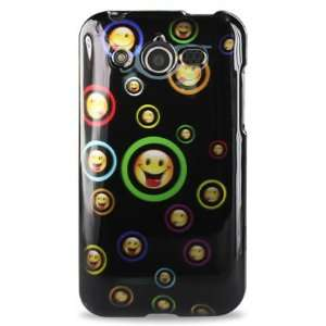 Huawei M886 Glory Mercury Designer Hard Case 133 Black W/Happy Faces