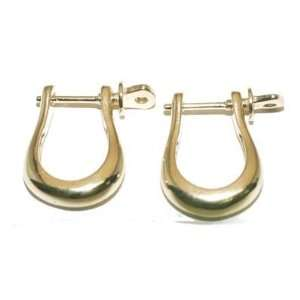Reyes del Mar 14K Gold LG Shackle Earring