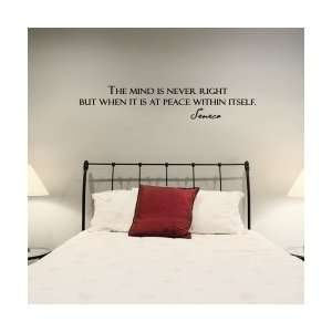 The Mind Is Never Right But Wall Art Decal