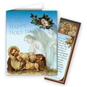 Happy Holy Days   Christmas Note Card With Detachable Bookmark (#9949