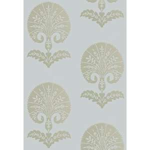 Ottoman Flower Heliotrope by F Schumacher Wallpaper Home