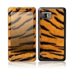 Tiger Skin Design Protective Skin Decal Sticker for Motorola Droid