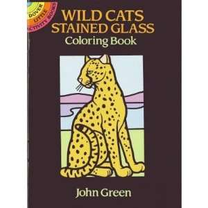 LITTLE WILD CATS STAIN GLASS COLOR BOOK Toys & Games