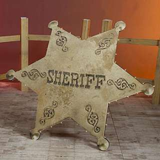 Sheriffs Star Standee, Theme Party Supplies, Western Party