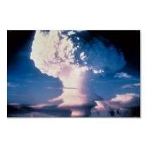 Atomic bomb test blast mushroom cloud rising posters by lifestore