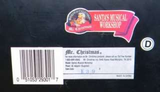Mr Christmas Santas Musical Workshop Music Box Christmas Carols