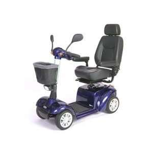 Pilot 4 Wheel Mobility Power Scooter   Blue with 20 seat