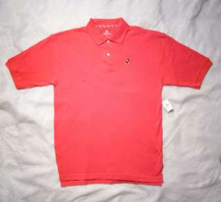 Disney Park MICKEY MOUSE Salmon Polo Shirt X Large NEW