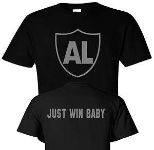 AL DAVIS OAKLAND RAIDERS TRIBUTE SHIRT Front and back silver logo Tee