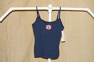 AUBURN TIGERS Ladies Tank Top w/ Shelf Bra Womens Large NWT blue