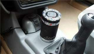 Auto CAR CUP HOLDER SOLAR LED LIGHT ASHTRAY Cigarette