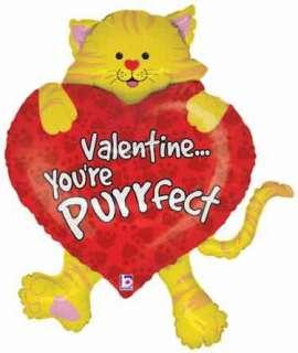 YOURE PURRFECT 38 JUMBO CAT balloon VALENTINES DAY