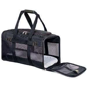 Black Pet Dog Cat Carrier Bag Crate Airline Soft Sided
