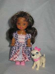 Mattel Barbie Kelly Princess Doll Figure