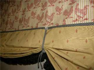 VALANCE French Country CURTAIN Tie Up Balloon Shade Red Gold Black