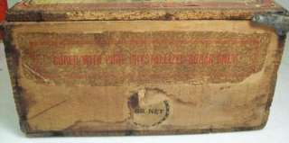 VINTAGE EARLY WOOD WOODEN Candy Store Display ADVERTISING BOX 1904