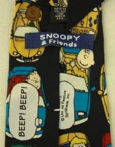 Peanuts Gang Neck Tie Cars City Charlie Brown Snoopy, Marci Linus