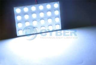 Panel White 24 5050 SMD LED Car Interior Dome Bulb Lamp