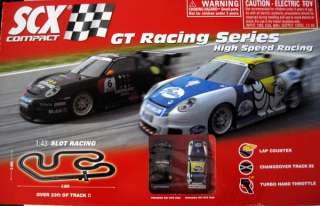 SCX Compact GT Racing Series 143 Slot Car Race Set NEW