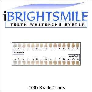 tooth shade guide laminated ebay