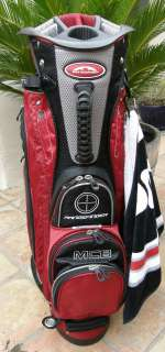 Mountain Golf MCB Full Length Divided Cart Bag Red Black Silver