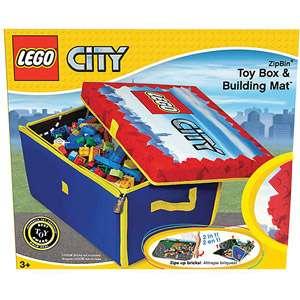 Oh LEGO City ZipBin Medium Toy Box and Play Mat Kids & Teen Rooms