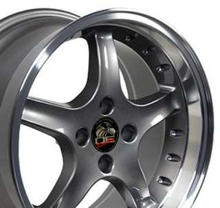 17 8/9 Anthracite Cobra Wheels Rims Fit Mustang® 79 93