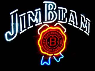 JIM BEAM DISTILLERY BEER BAR NEON LIGHT SIGN me161